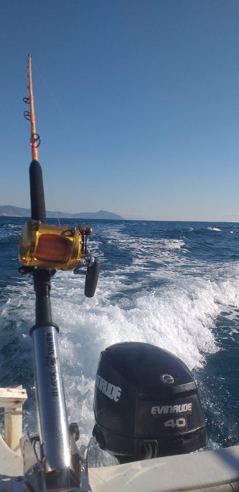 Portacanna Black Shark su Imbarcazione